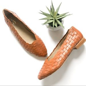 SEYCHELLES ANTHROPOLOGIE Woven Leather Flats 9.5